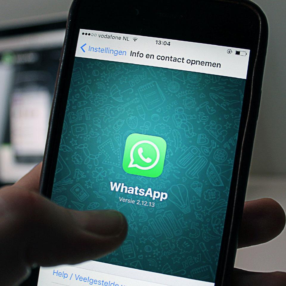 WhatsApp je vraag